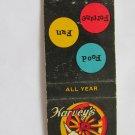 Harvey's Wagon Wheel State Line, Nevada Restaurant 20 Strike Matchbook Cover
