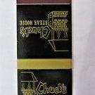 Chuck's Steak House Hawaii Kai /Pearl Ridge Restaurant 20 Strike Matchbook Cover