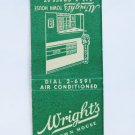 Wright's Town House Richmond, Virginia VA Restaurant 20 Strike Matchbook Cover