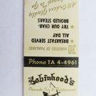 Robinhood's Pancake Inn & Restaurant San Antonio Texas 20 Strike Matchbook Cover