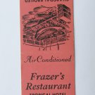 Frazer's Restaurant Tropical Hotel Kissimmee, Florida 20 Strike Matchbook Cover