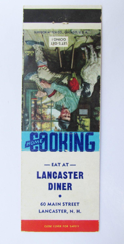 Lancaster Diner New Hampshire NH Restaurant 20 Strike Matchbook Cover  JF Kernan