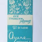 Azure Restaurant Waterfall Bar St. Petersburg Florida 20 Strike Matchbook Cover