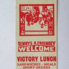 Victory Lunch - Williamsport, Pennsylvania Restaurant 20 Strike Matchbook Cover