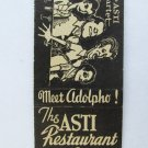The Asti Restaurant - New York 20 Strike Matchbook Cover Asti Quartet Matchcover