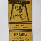 The Castle - Valdese, NC North Carolina Restaurant 20 Strike Matchbook Cover