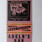 Abeln's Bar - Shakopee, Minnesota 20 Strike Matchbook Cover MN Johnnie & Marge