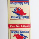 Los Alamitos Race Course Night Horse Racing Sports Matchbook Cover - 20 Strike