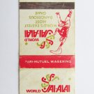 World Jai-Alai Florida Hartford 20 Strike Sport Matchbook Cover Play Description