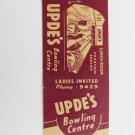 Upde's Bowling Centre Mechanicsburg Pennsylvania 20 Front Strike Matchbook Cover