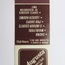 Augusta Tennis Club St. Cloud 20 Strike Vintage Sports Matchbook Match Cover