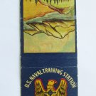 US Naval Training Station Farragut Idaho Vintage 20 FS Military Matchbook Cover