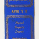 US Navy Mechanicsburg Pennsylvania PA Vintage 20 Strike Military Matchbook Cover