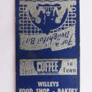 Willey's Restaurant - St. Johnsbury Vermont 20 Strike Matchbook Cover Matchcover
