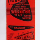 The Nassau Restaurant Pennsauken, New Jersey NJ 20 Strike Matchbook Match Cover