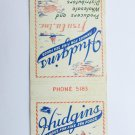 Hudgins Restaurant West Palm Beach, Florida FL 20 Strike Matchbook Match Cover