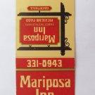 Mariposa Inn Mexican Restaurant West Covina California 20 Strike Matchbook Cover