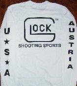 Glock T-Shirt Long Sleeve White Med Part Number LWGLO-AP61404