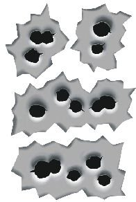 LWD Decal Bullet Holes MG Part Number LWD-DECAL3