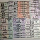 Lots of 70 Pieces of Banktells' USD Training Banknotes/ Paper Money. UNC