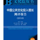 Annual Report on CHINA'S PUBLIC CULTURAL INVESTMENT(2016) ISBN:9787509788387