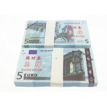 A Lot of 100 Pieces  Banktells' 5 Euro Training Banknotes Paper Money