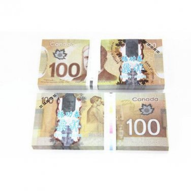 Lot of 100 Pieces  Banktells' C$100 Training  Canada Banknotes Paper Money