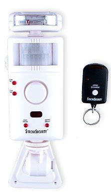 Strobe Motion Alarm and Chime with Remote