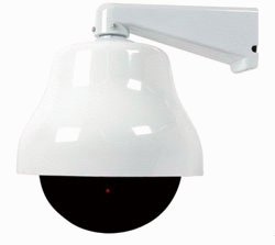 Large Dome Dummy Camera in Outdoor Housing w ith LED Light