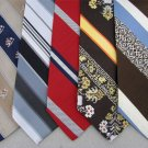 Vtg 5 Custom Cravatieur  Damon Wembley Chadwick Striped Texture 70s Neck Tie Lot