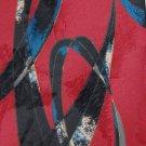 STUDIO 54 ART DECO MAROON BLUE BLACK SILK MEN NECK TIE Men Designer Tie EUC