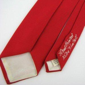 Vintage Richard Moraski Bullshit Art Calligraphy Lettering Tie Necktie Rare  #EV