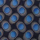 LDM ITALY BLUE GRAY OVAL PATTERN SILK MEN NECK TIE Men Designer Tie EUC