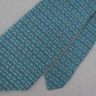Jos A Bank Geometric Green Silk Dress Shirt Tie Red Neck Tie Men Designer EUC