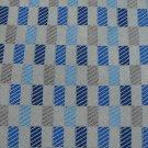 RAFAEL STRIPE WOVEN BLUE GREY SILK Men Neck Tie Men Designer Tie EUC
