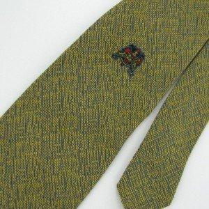 Vintage Wemlon Wembley Texture Crest Shield Logo 60s Men Neck Tie Necktie  #EV