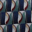 STAFFORD OVALS BLUE GREEN MAROON SILK MEN NECK TIE Men Designer Tie EUC