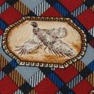 #1A New FIELD & STREAM 'BIRDS' PLAID RED BLUE TIE Necktie !