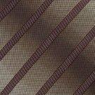 #1A KENNETH COLE MAROON WHITE STRIPE SILK WOVEN NECK TIE Krawatte Cravatta