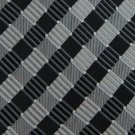 #1A New GIACOMO BLACK SILVER STRIPE WOVEN MEN NECK TIE Krawatte Cravatta