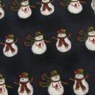 #1A New HALLMARK Christmas Snow Man Holiday STRIPE NAVY WHITE RED  Necktie Tie
