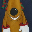 #1A New HALLMARK Christmas Holiday Reindeer Ornament NAVY BROWN RED Necktie Tie