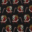 #1A NEW CLAYBROOKE Christmas Santa Holiday CANDY CANE RED BLACK   Necktie Tie