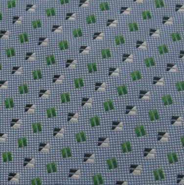 New DIVA CUCITA A MANO WOVEN SQUARE SkyBlue GREEN Neck Tie Men Designer Tie