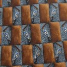 #1A New J Z RICHARDS BROWN GRAY CHECKER SILK MEN NECK TIE
