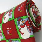 #1A New KEITH DANIELS Christmas Snow Man Holiday BIRD RED WHITE  Necktie Tie