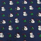 #1A New WOODWARD Christmas Snow Man Holiday Tree NAVY GREEN WHITE  Necktie Tie