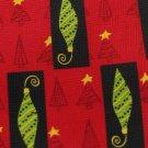 TIES IN DISGUISE Christmas Holiday Ornament RED BLACK NeckTie Men Designer EUC