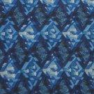 DANIEL HECHTER NAVY BLUE GREY DIAMOND SILK Men Neck Tie Men Designer Tie EUC