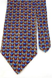 #1A STUDIO FUMAGALLI'S MAROON BLUE DIAMOND Luxury NECK TIE NECKTIE